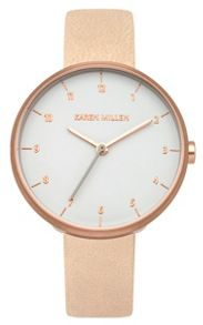Karen Millen Ladies nude strap watch