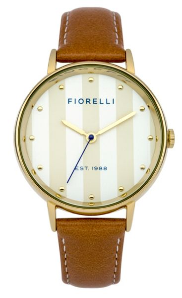 Fiorelli Ladies tan leather strap watch