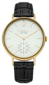 Fiorelli Ladies black croc leather strap watch