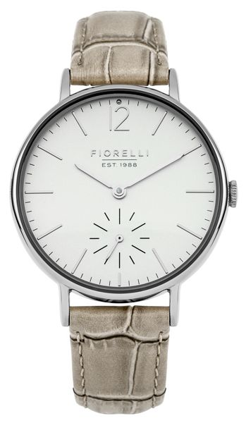 Fiorelli Ladies taupe croc leather strap watch