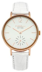 Fiorelli Ladies white croc leather strap watch