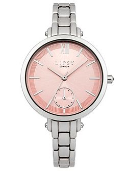 Ladies silver tone bracelet watch