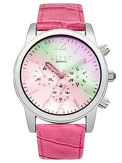 Ladies pink strap watch