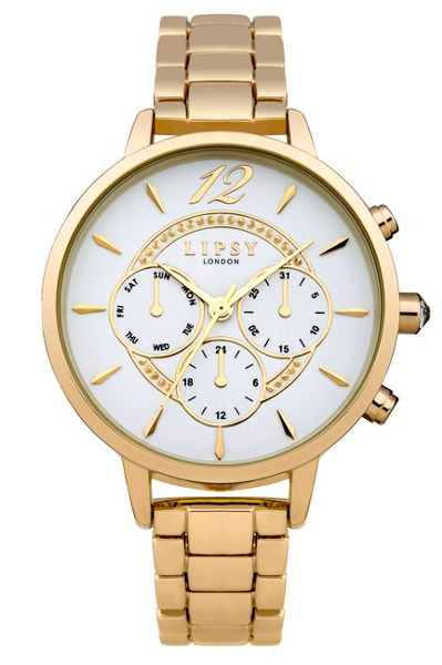 Lipsy Ladies gold tone bracelet watch