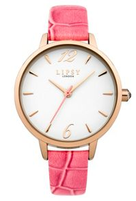 Lipsy Ladies coral strap watch
