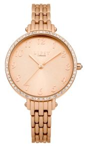 Lipsy Ladies rose gold tone bracelet watch