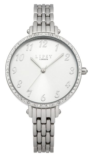 Lipsy Ladies silver tone bracelet watch