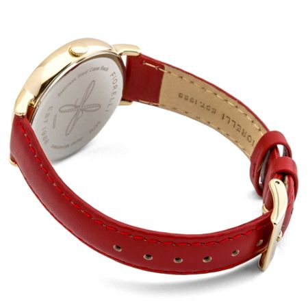 Fiorelli Ladies red leather strap watch
