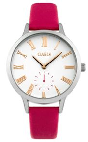 Oasis Ladies pink strap watch