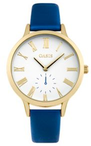 Oasis Ladies blue strap watch