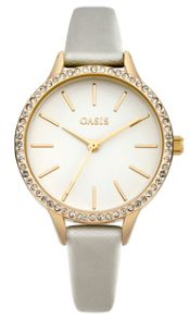 Oasis Ladies mink strap watch
