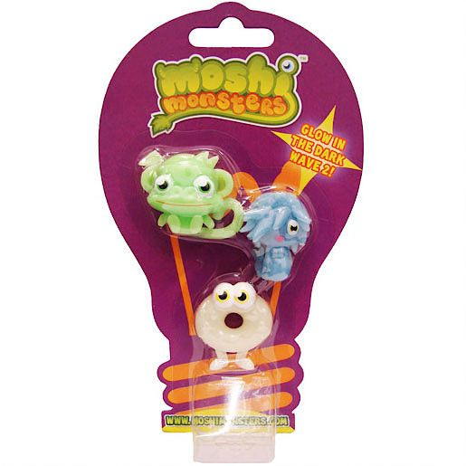 Glow in the dark moshlings series 2 - three pack