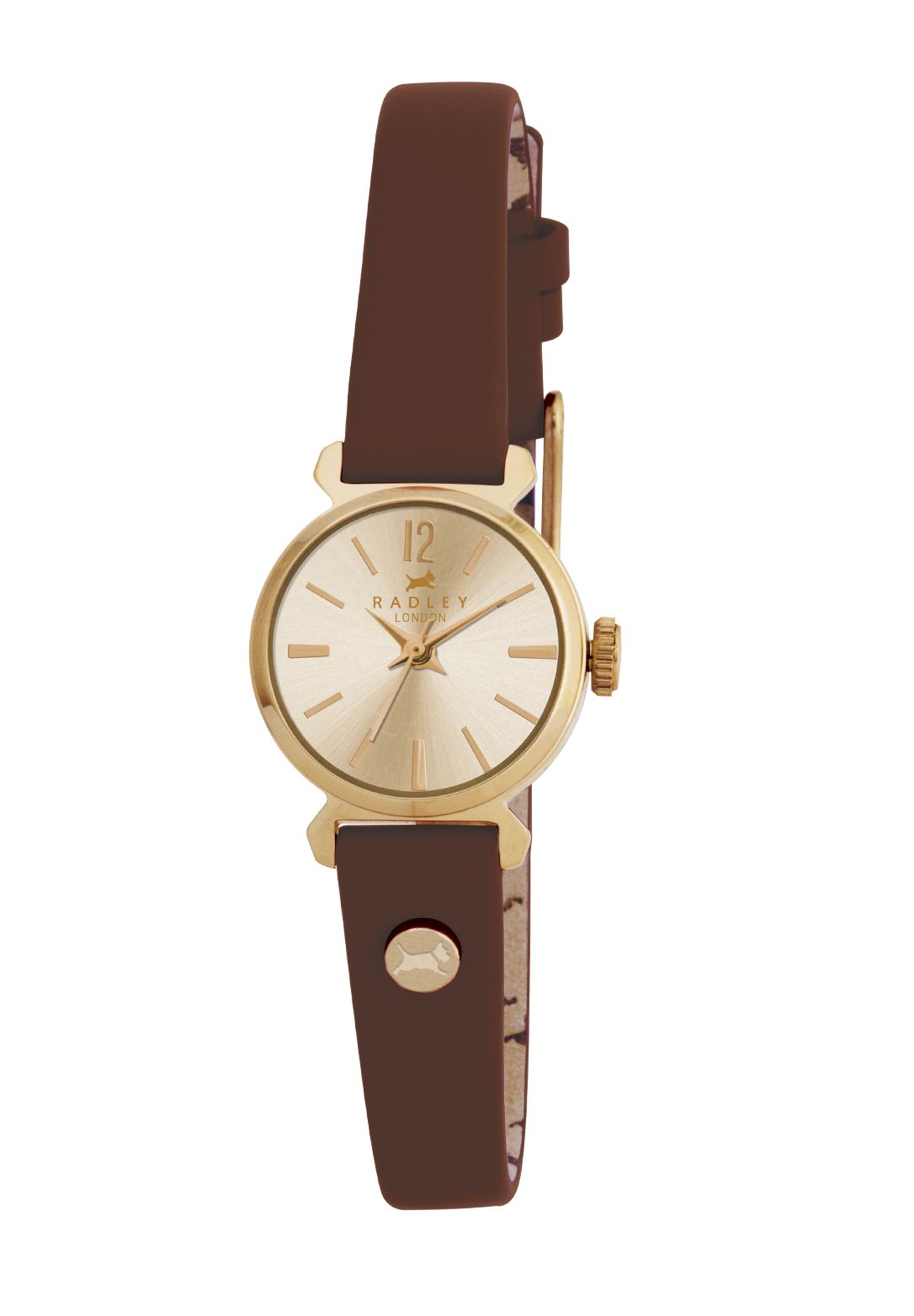 RY2052 Radley Brown Small Vintage Strap Watch