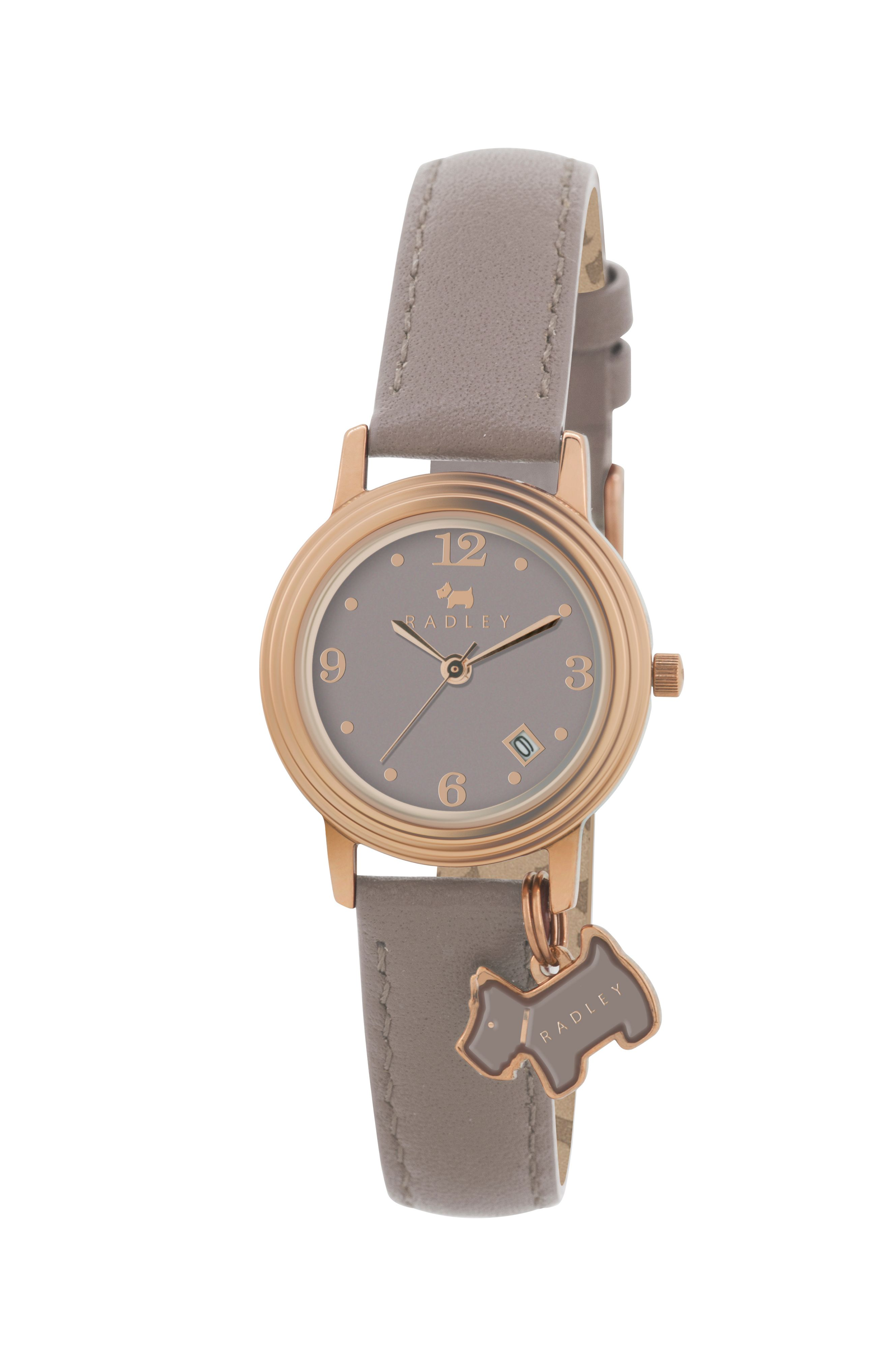 RY2130 rose gold plated leather ladies watch