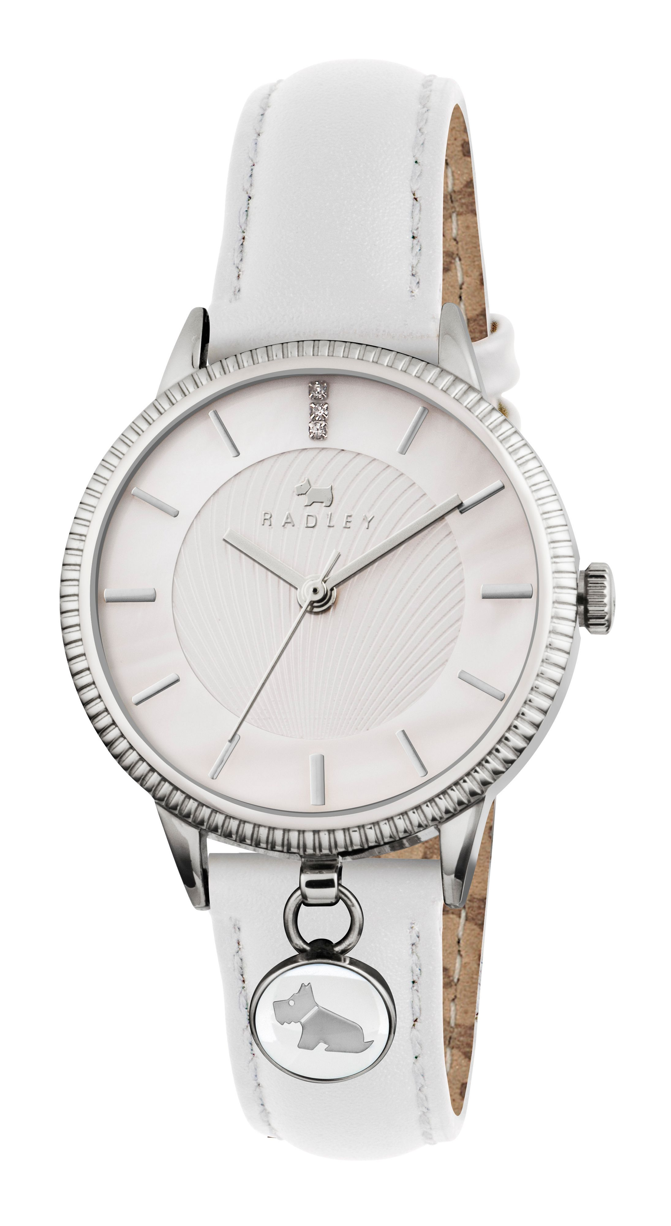 RY2165 white leather strap ladies watch