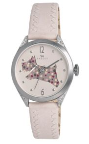 Radley Radley cream cut through dog leather strap watch
