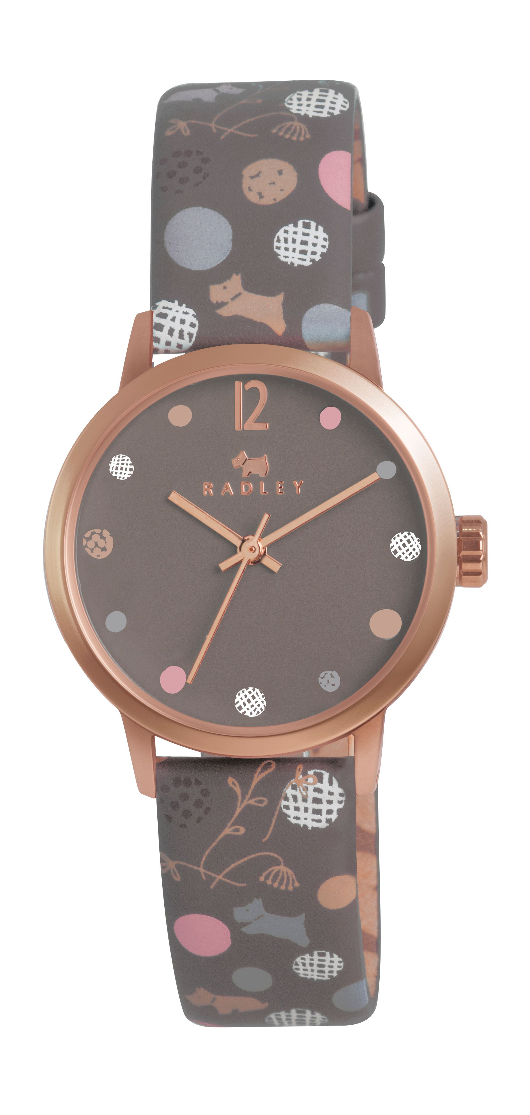 Radley marsupial dotty dog leather strap watch