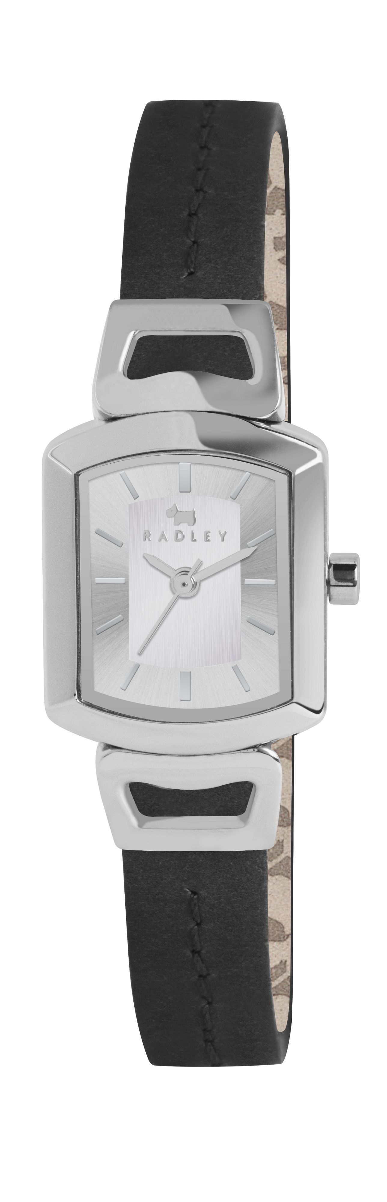 Radley black grosvenor leather strap watch