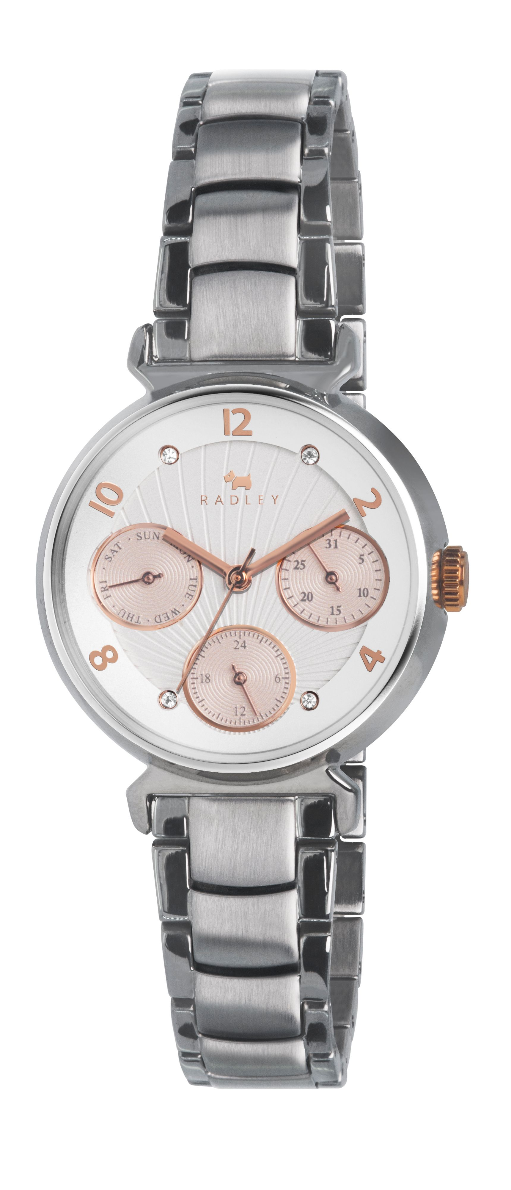 Radley tapered case multi-dial bracelet watch