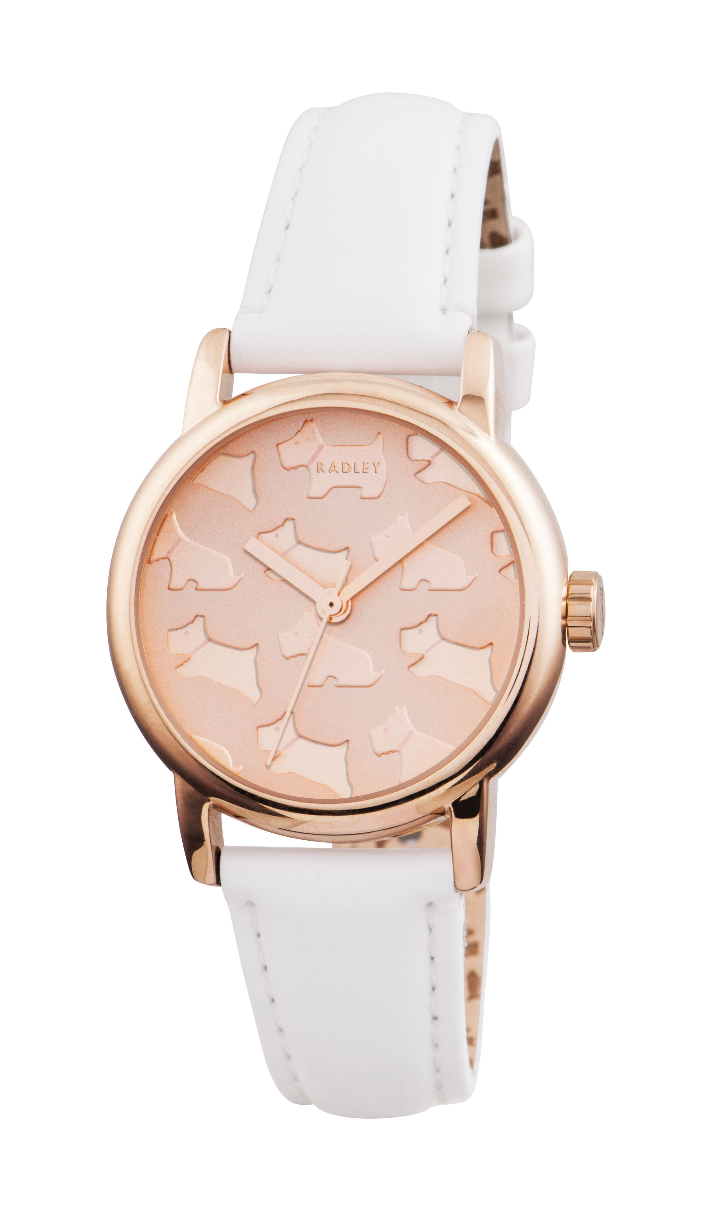 RY2232 white leather strap ladies watch