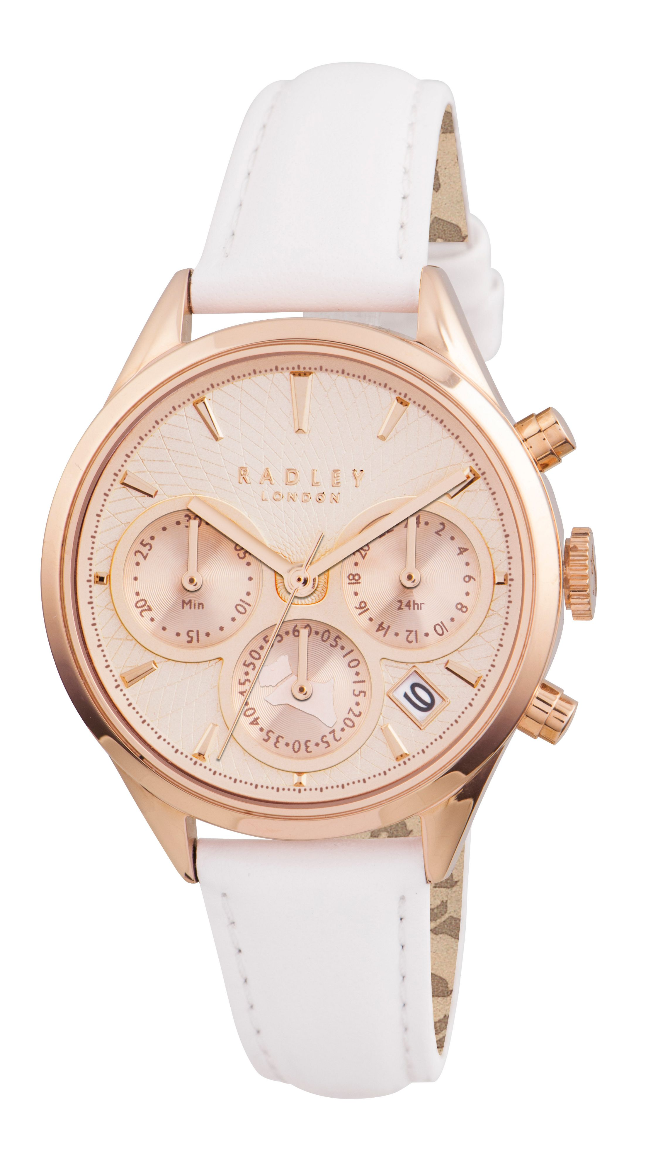 RY2238 Rose gold leather strap ladies watch