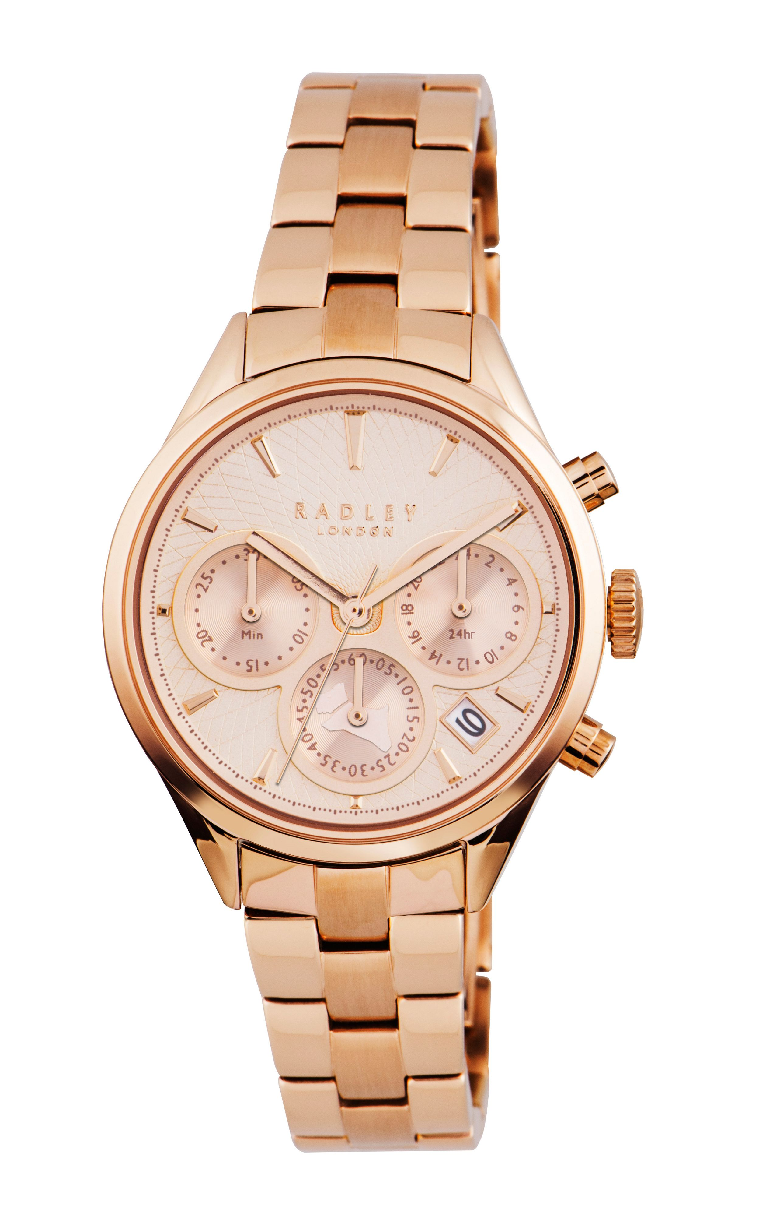RY4186 Rose gold ladies chronograph watch