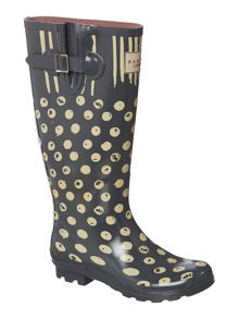 Moon dots dog tall welly