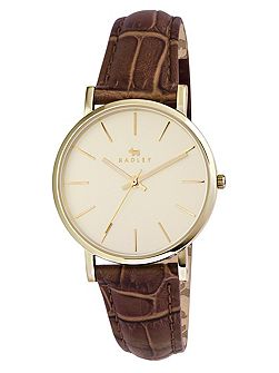 RY2268 Ladies Brown Strap Champagne Dial
