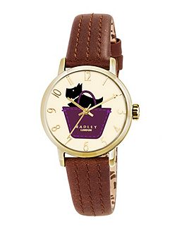 RY2290 Ladies Tan Strap Champagne Dial