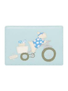To the beach blue travel card holder