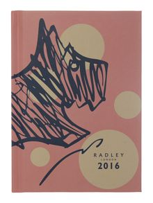 Cherry blossom dog pink A6 diary