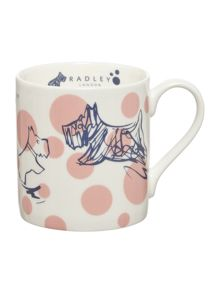 Cherry blossom dog pink single mug