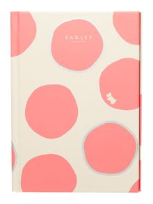 Spot on pink A6 notebook