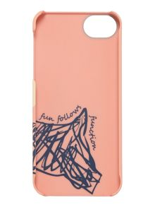 Cherry blossom dog pink iphone cover