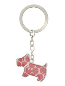 Spot on pink key ring
