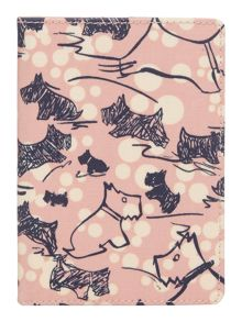 Cherry blossom dog pink passport cover
