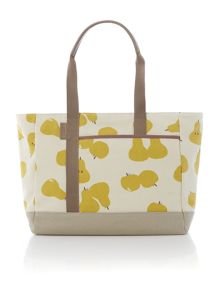 Apples and pears ivory large tote bag