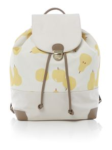 Apples and pears ivory large backpack