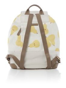 Radley Apples and pears ivory large backpack