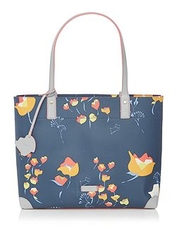 Botanical grey large tote bag