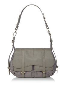 Radley Grosvenor grey medium flap over shoulder bag