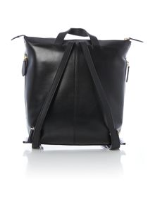 Redchurch black large ziptop backpack