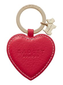 Radley Kings terrace pink heart keyring