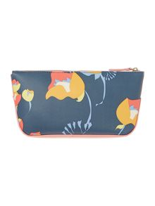Botanical multi coloured large zip pencil case