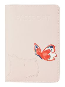 Radley Come fly with me pink passport cover