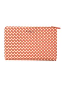 Love Radley coral medium zip around purse