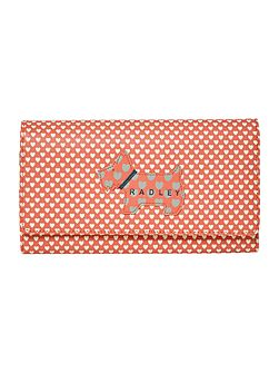 Love radley coral large flap-over purse