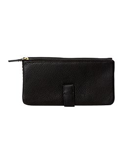 Tetbury black large flap over purse