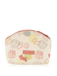 Radley Scribble Print multi coloured small cosmetic bag