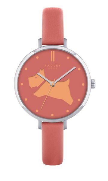 Radley Radley papaya leather strap watch